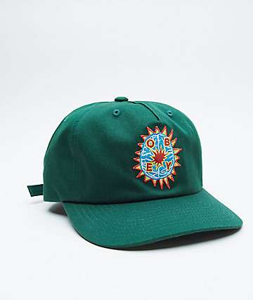 Obey Minds Deep Green Strapback Hat