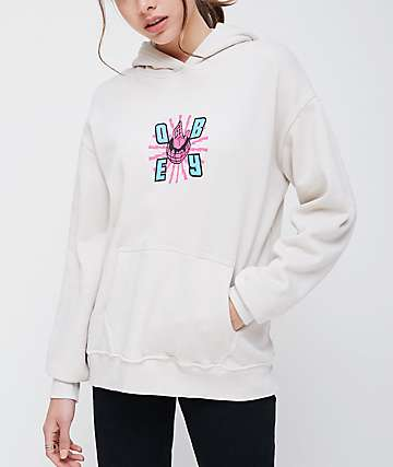 Obey Ministry Of Propaganda Delancy White Hoodie