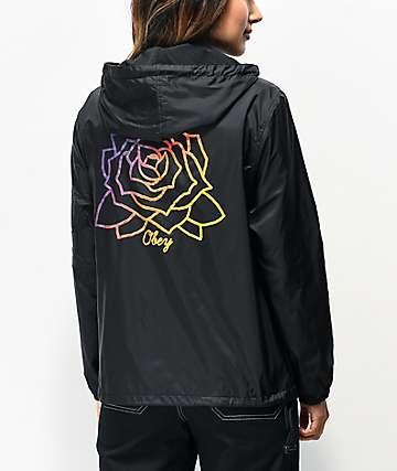 Obey Mira Rosa Black Anorak Jacket