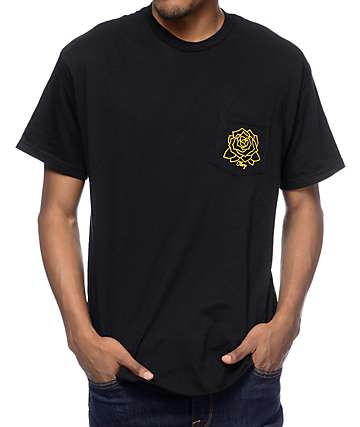 Obey Mira Rosa Black Pocket T-Shirt