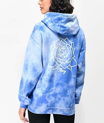 Obey Mira Rosa Blue Tie Dye Hoodie