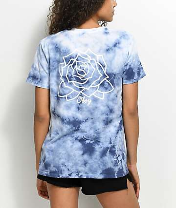 Obey Mira Rosa Blue Tie Dye T-Shirt