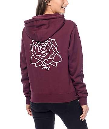 Obey Mira Rosa Burgundy Hoodie