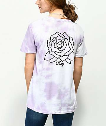 Obey Mira Rosa Classic Lavender Tie Dye T-Shirt