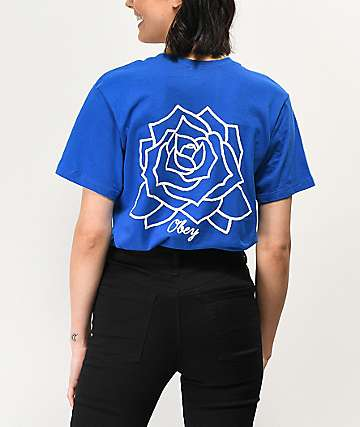 Obey Mira Rosa Royal Blue T-Shirt