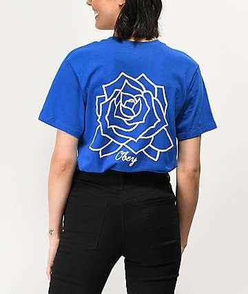 3413d4d84770 Obey Mira Rosa Royal Blue T-Shirt