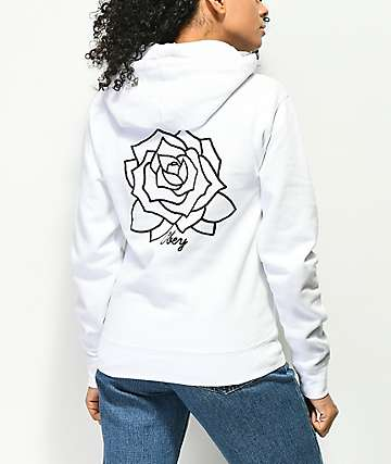 Obey Mira Rosa White Hoodie