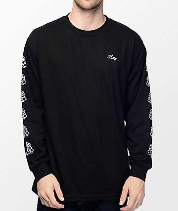 Obey Mira Rosa camiseta de manga larga en negros