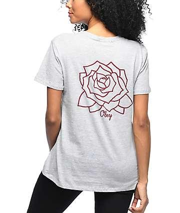 Obey Mira Rosa camiseta gris