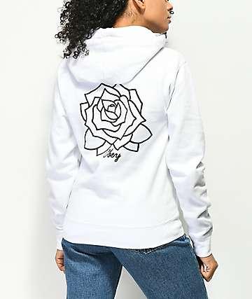Obey Mira Rosa sudadera blanca con capucha