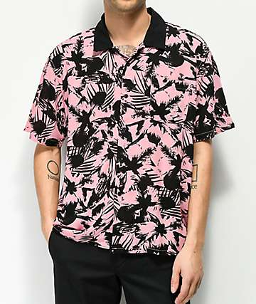 Obey Nate camisa rosa y negra