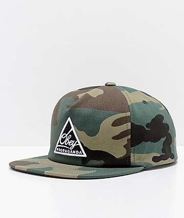 Obey New Federation III Camo Snapback Hat