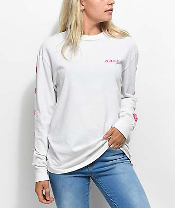 Obey New Rose 2 Dust Fog Long Sleeve T-Shirt
