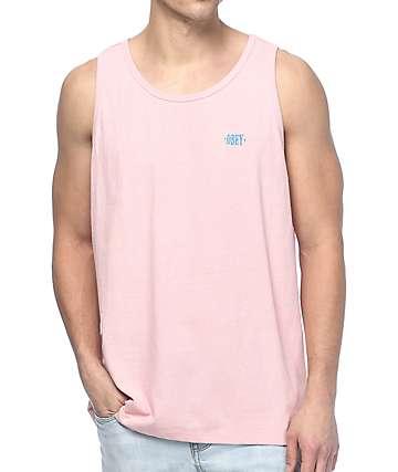 Obey New Times Box camiseta rosa sin mangas