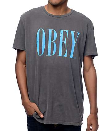 Obey New Times Dusty Black T-Shirt