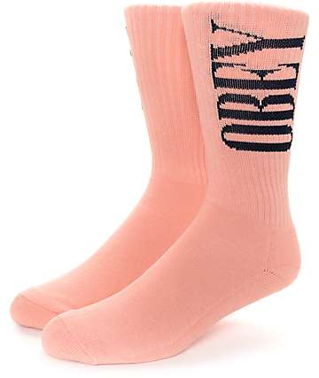 Obey New Times Rose & Navy Crew Socks