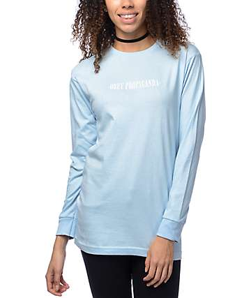 Obey New Times True Light Blue Long Sleeve T-Shirt