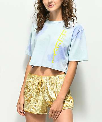 Obey New World 2 Tie Dye Crop T-Shirt