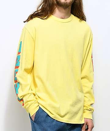 Obey New World 2 camiseta amarilla de manga larga