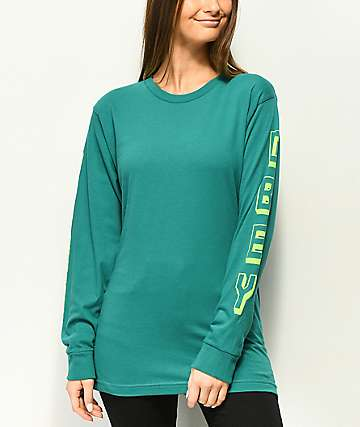 Obey New World 2 camiseta de manga larga en verde azulado