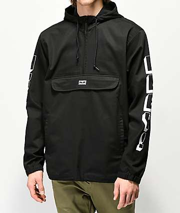 Obey New World 3 Black Anorak Jacket