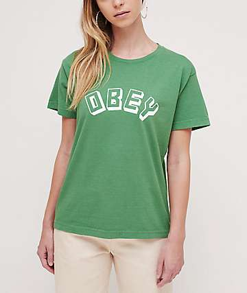Obey New World Box Vintage Green T-Shirt
