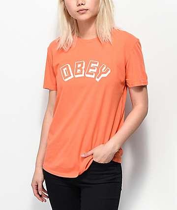 Obey New World Classic camiseta naranja