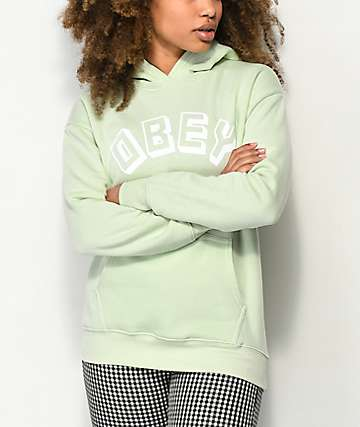 Obey New World Delancy Seafoam Green Hoodie