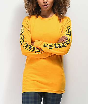 Obey New World Gold Long Sleeve T-Shirt