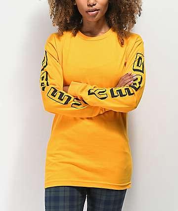 Obey New World camiseta dorada de manga larga