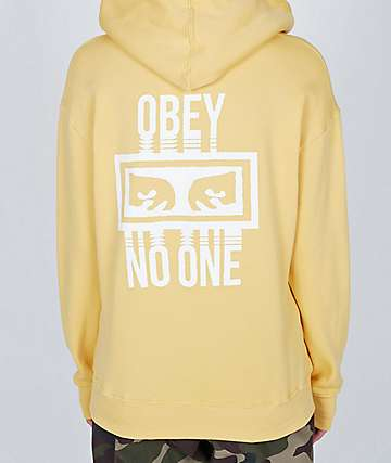 Obey No One Delancy Yellow Hoodie