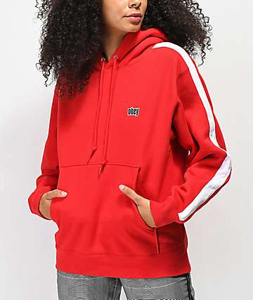 Obey Nova Red Taped Hoodie