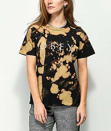 Obey Novel 2 Box Bleached Black T-Shirt