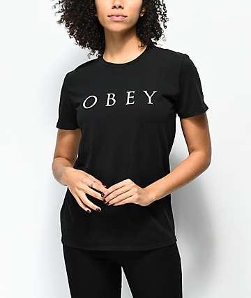 Obey Novel 2 Classic Black T-Shirt