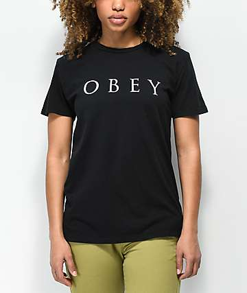 Obey Novel 2 camiseta negra