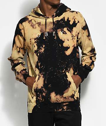 Obey Novel Black & Bleach Hoodie