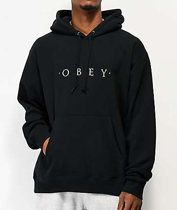 Obey Novel Black Hoodie