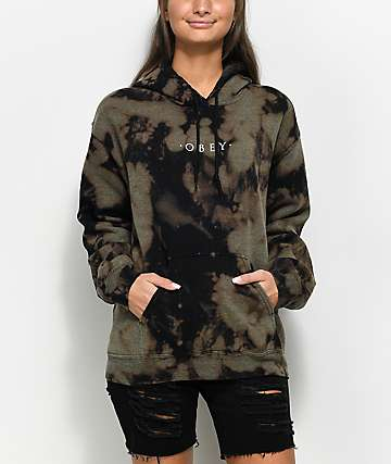 Obey Novel Bleached Black Hoodie