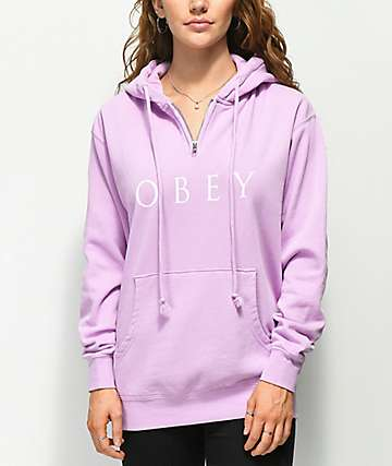 Obey Novel Box 2 sudadera con capucha lavanda