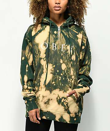 Obey Novel Box Bleached Navy Anorak Hoodie