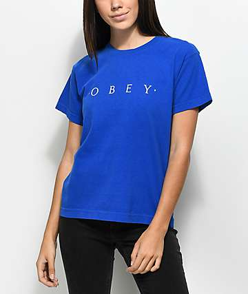 Obey Novel Boxy Royal Blue T-Shirt