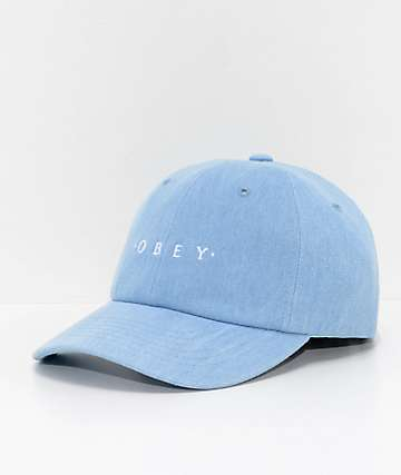 Obey Novel Denim Baseball Hat