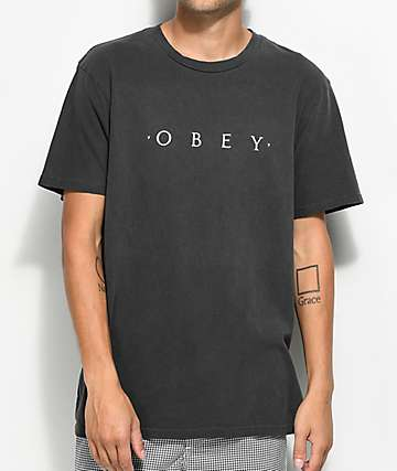 Obey Novel Dusty Black T-Shirt