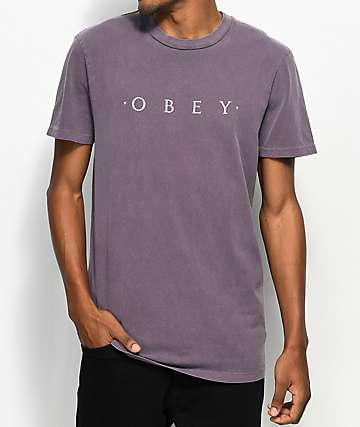 Obey Novel Dusty Eggplant T-Shirt