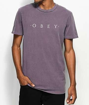 Obey Novel Dusty Eggplant T-Shirt