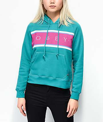 Obey Novel Palisade Green Hoodie