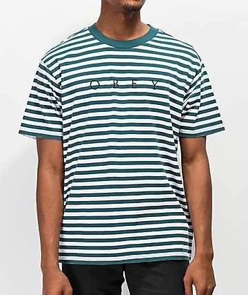Obey Novel Pine Stripe T-Shirt