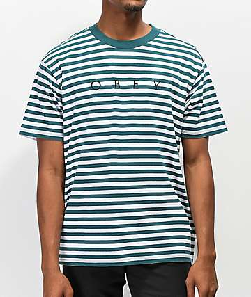 Obey Novel Pine camiseta de rayas