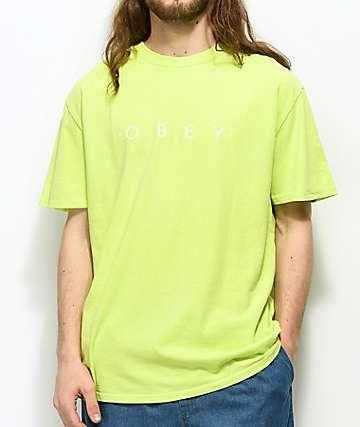 Obey Novel camiseta en verde claro