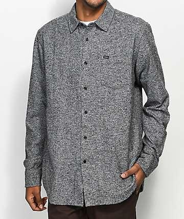 Obey Numbers camisa tejida en negro jaspeado